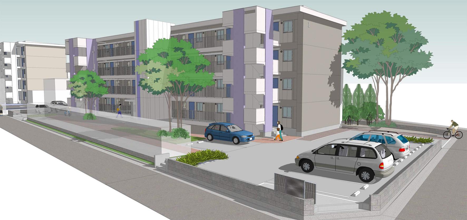 K住宅住戸改善等基本設計及び耐震診断、耐震補強設計業務