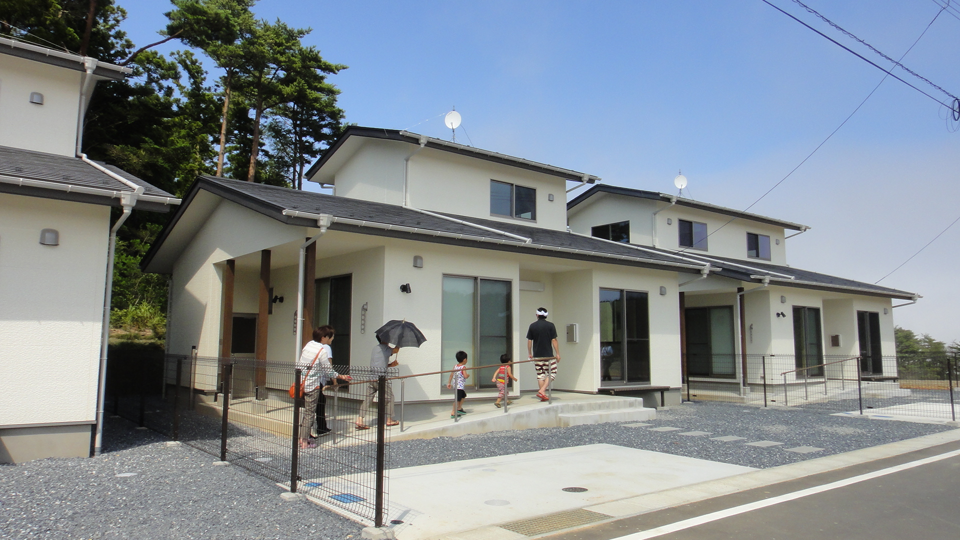 女川町中心部及び離半島部における木造戸建災害公営住宅